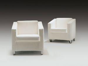 Camilla, Chaise rembourrée, avec des roues, pour la zone de lecture