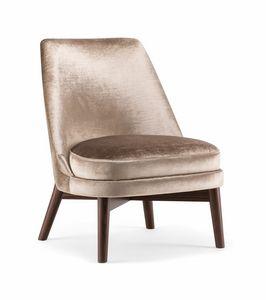 CELINE LOUNGE CHAIR 077 P, Chaise longue avec dossier haut