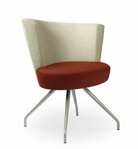 ELIPSE 1F, Fauteuil de salon avec un grand siège circulaire, pour utilisation contract