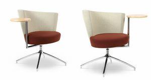 ELIPSE 1TR, Fauteuil avec assise circulaire, avec table intégrée