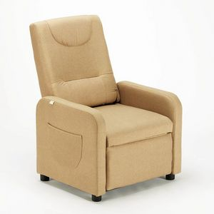 Fauteuil Design relax inclinable avec repose-pieds en tissu ANNA - SR6203FE, Fauteuil relax en tissu