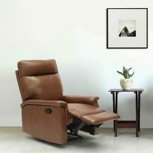 Fauteuil relax inclinable avec repose-pieds en similcuir design AURORA - SR642PUM, Fauteuil relax inclinable