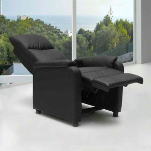 Fauteuil relax inclinable avec repose-pieds en similcuir GIULIA - SR611PUN, Fauteuil inclinable avec repose-pieds
