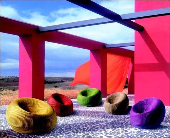 Fauteuil Sfera, Petit fauteuil en osier coloré