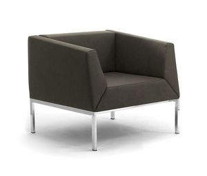 Kos Fauteuil, Fauteuil et canapé avec des jambes en métal et assise rembourrée