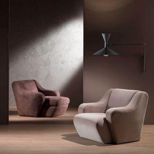 PO41 Morfeo fauteuil, Fauteuil confortable, rembourré avec de la mousse de polyuréthane