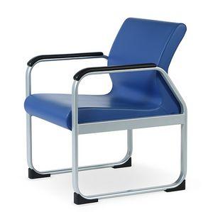 ONE 401 A, Chaise avec structure en acier, forme profilée