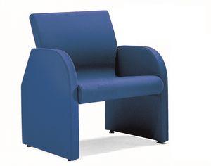 ONE 401, Chaise rembourrée recouverte de fibres élastiques