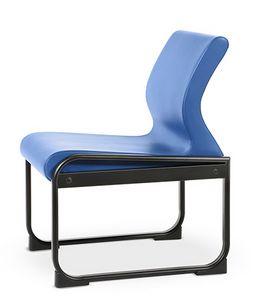 ONE 401 S, Chaise avec base en métal, facile à nettoyer