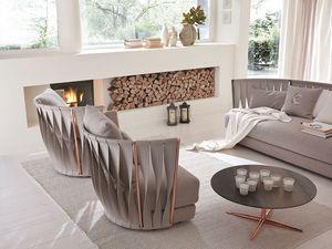 Twist fauteuil, Fauteuil de fer moderne, avec rembourrage en caoutchouc et plumes