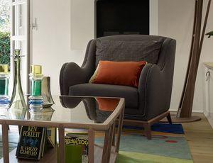 Wave fauteuil, Fauteuil pour salons contemporains