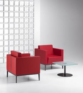 XILON 770, Moderne rembourré Fauteuil idéal pour des espaces de détente et salons