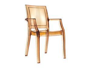 Ambra, Chaise résistante, en polycarbonate, pour les salons de crème glacée