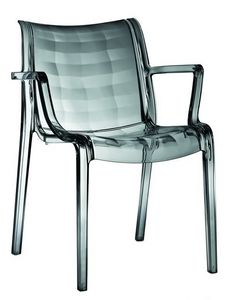 Extraordinaria, Chaise polycarbonate empilable, pour jardin