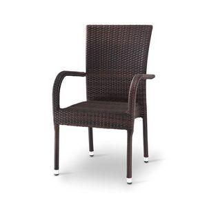 Giada 2, Chaise tissée avec accoudoirs, pour Ice Cream & Bar