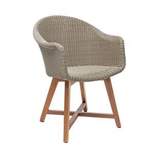 Gipsy 4321, Chaise confortable et ergonomique avec accoudoirs pour utilisation en extérieur