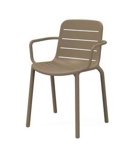 Guenda - P, Chaise en plastique idéal pour les jardins et terrasses