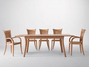 Harmony fauteuil, Chaise moderne avec accoudoirs, en bois, pour le jardin