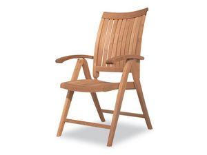 Harmony fauteuil inclinable, Chaise pliante, multiposition, une utilisation en extérieur en bois