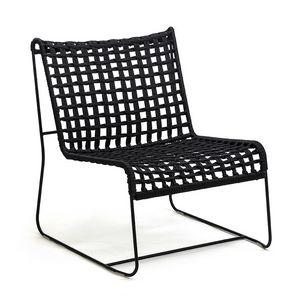 In/Out LO, Chaise longue linéaire, assise en corde tissée, pour intérieur et extérieur