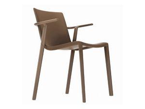 Kira-P, Chaise d'extérieur en polypropylène, résistant et léger