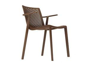 Kiranet-P, Chaise empilable moderne, des couleurs différentes, pour les jardins