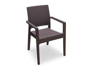 Lipari-P, Chaise d'extérieur, empilable, renforcé de fibre de verre