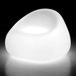 LT SOFA / 1P, Fauteuil d'extérieur en polycarbonate, lumière intérieure