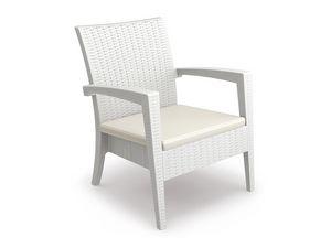 Minorca-PL, Chaise d'extérieur, empilable, pour les navires, les hôtels, les bars