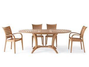 Mirage fauteuil, Fauteuil en bois avec accoudoirs, pour l'extérieur