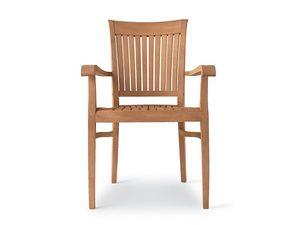 Newport fauteuil, Chaise en bois avec accoudoirs, pour bars et restaurants