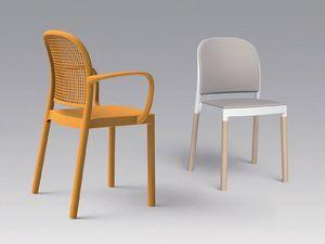 Panama A, Chaise avec accoudoirs, empilable, pour une utilisation en extérieur