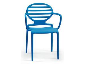 PL 2280, Chaise en polypropylène avec accoudoirs, finition mate