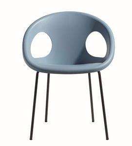 PL 2682.EST, Chaise empilable, siège en plastique, pour une utilisation extérieure