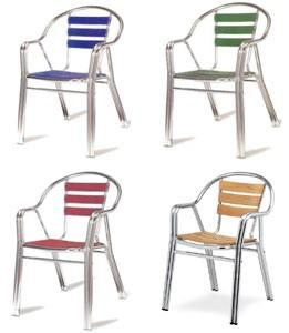 PL 414, Chaises en aluminium résistant, pour magasin de crème glacée