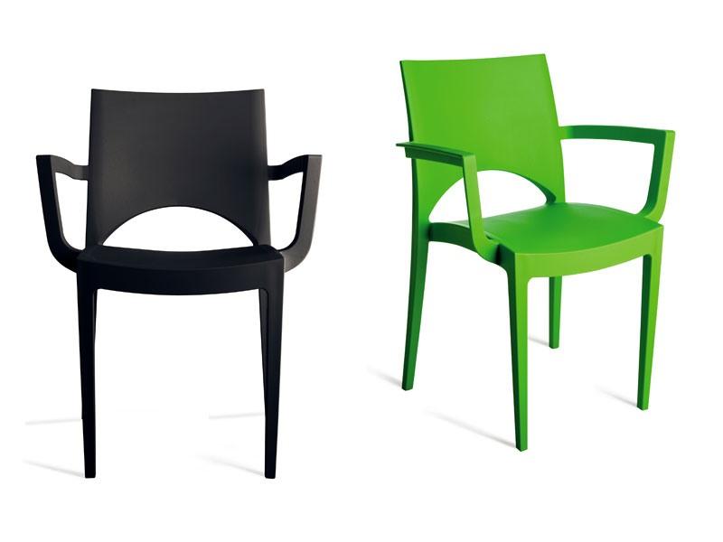 PL 6614, Chaise en polypropylène résistant, pour l'hôtel et bar