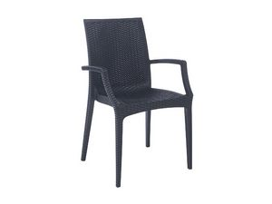 PL 6625, Chaise moderne, entrelacé imprimé, pour les jardins