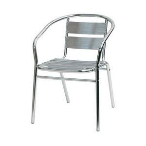 Sd est 1, Chaise avec accoudoirs entièrement en aluminium, pour usage externe