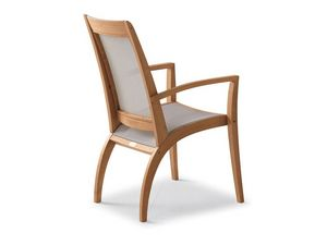 Wave fauteuil - textilène, Fauteuil Durable, des lignes douces, pour bar et salon de crème glacée