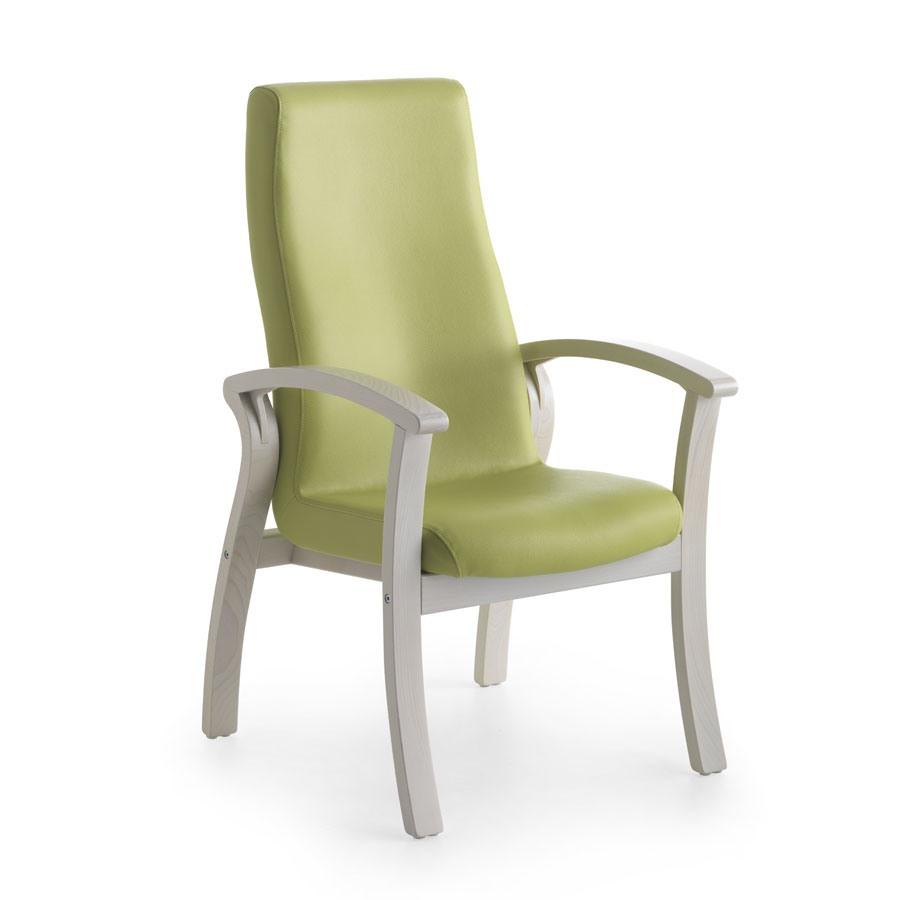 Silver Age 07 FIX, Chaise confortable avec un dossier haut, pour les personnes âgées