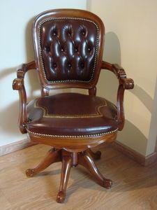 Art. 275, Chaise pivotante pour les bureaux, le cuir tufté