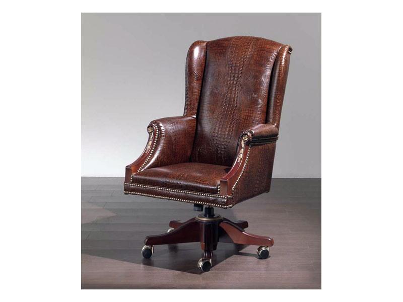 Fiore smooth, Chaise confortable tapissé en cuir pour le bureau