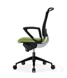 Korium, Chaise avec dossier en maille, pour le bureau