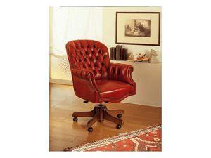 Lord, Luxe chaise de bureau, pivotant, avec une décoration capitonné