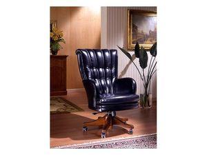 Praga, Chaise de bureau avec roulettes, de luxe, pour la réception Hôtel