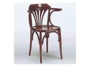 121 P, Chaise avec accoudoirs en bois courbé, pour les bars