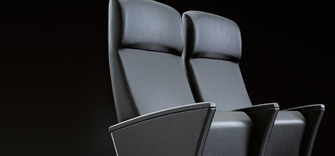 EIDOS PLUS, Fauteuil disponible avec appuie-tête pour le cinéma et des salles de conférence prestigieuses