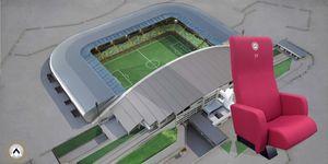 Sièges de Stade, Fauteuils avec rabattable avec chauffage, pour les stades
