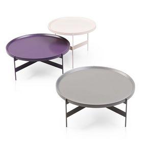 Abaco, Round petites tables en métal, en différentes finitions