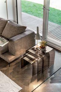 ANEMONE, Tables basses en verre, pour les salles de séjour, avec design moderne
